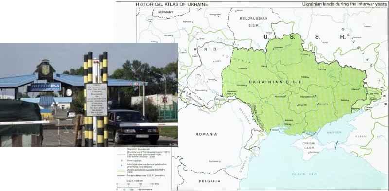граница украины-карта